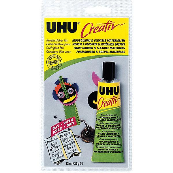 UHU Клей для пенорезины UHU Creativ, 33 мл клеящие блёстки uhu young creativ матовые 6 х10 мл