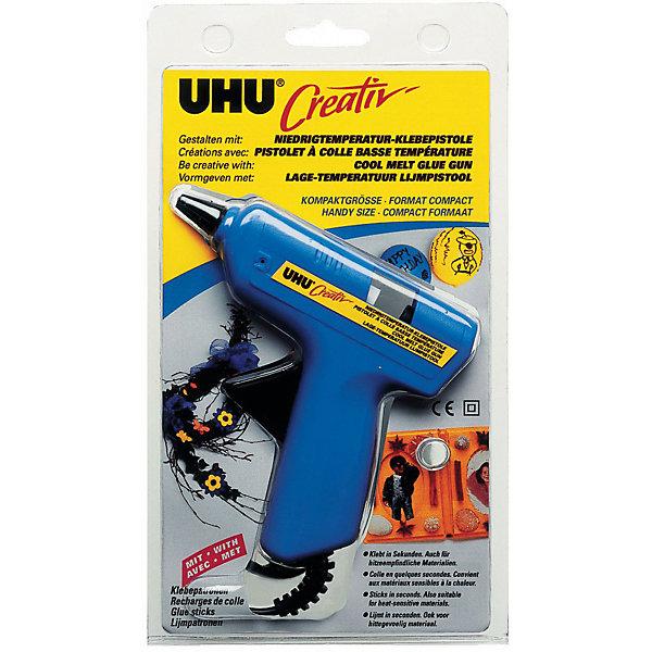 UHU Клеевой пистолет UHU Creativ, низкотемпературный клеевой пистолет hemline пистолет клеевой низкотемпературный