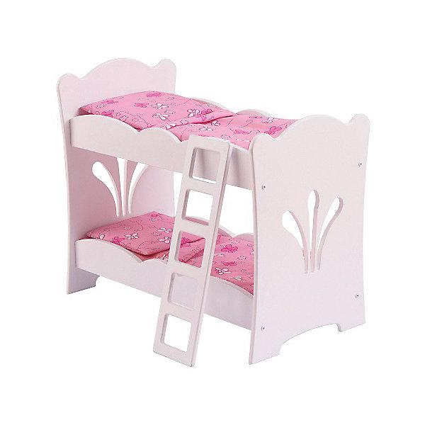 аксессуары для кукол kidkraft набор мебели star KidKraft Двухярусная кроватка-колыбель для куклы KidKraft