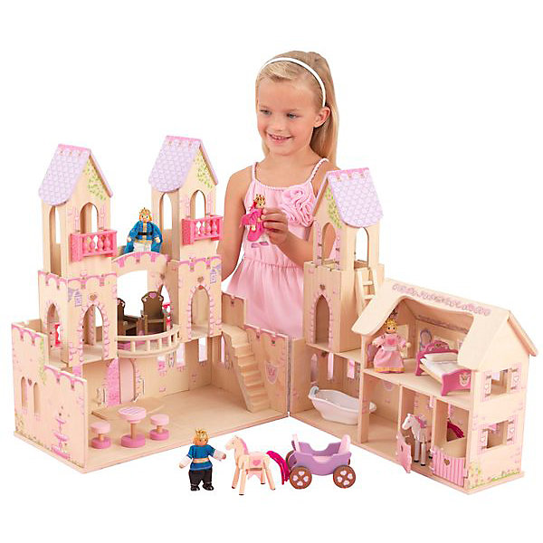 аксессуары для кукол kidkraft набор мебели star KidKraft Домик для мини-кукол KidKraft Замок принцессы