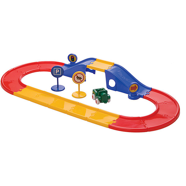 Viking Toys Набор Viking Toys City Дорога с мостом, 19 элементов цена 2017