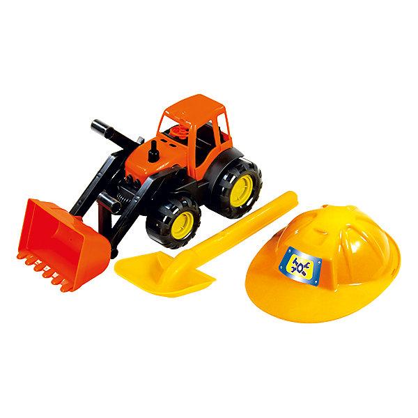 Zebratoys Песочный набор Zebratoys Трактор c каской и лопатой автомобиль zebratoys флипер красный 15 5331
