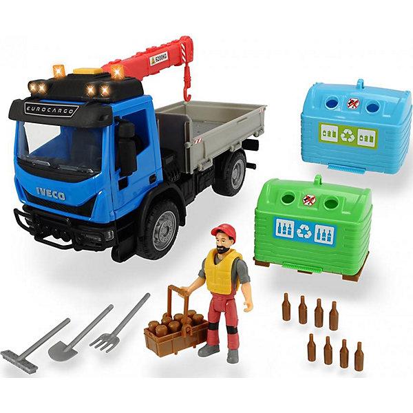 Dickie Toys Игровой набор перевозчика стеклотары Dickie Toys Playlife, 7 аксессуаров dickie toys игровой набор dickie toys побег из тюрьмы свет звук