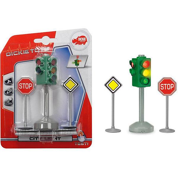 Dickie Toys Игровой набор Dickie Toys Светофор и знаки дорожного движения, 12 см dickie светофор набор дорожных знаков 24 см 3741001