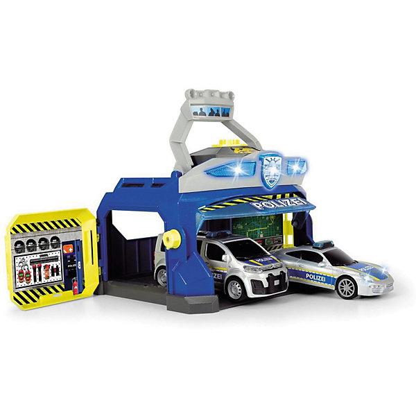 Dickie Toys Игровой набор Dickie Toys Полицеская станция и 2 машинки, свет и звук dickie toys игровой набор dickie toys побег из тюрьмы свет звук
