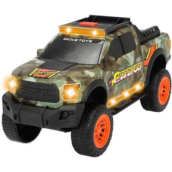 Купить Машинка Dickie Toys Adventure Ford F150 Raptor, 33 см, свет и звук, Китай, серый, Мужской