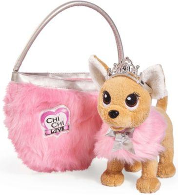 Simba Chi Chi Love Плюшевая собачка Simba Chi Chi Love Принцесса с пушистой сумкой, 20 см