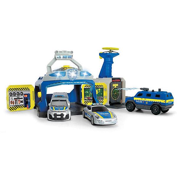 Dickie Toys Игровой набор Dickie Toys Полицейская станция и 3 машинки, свет и звук dickie toys игровой набор dickie toys побег из тюрьмы свет звук