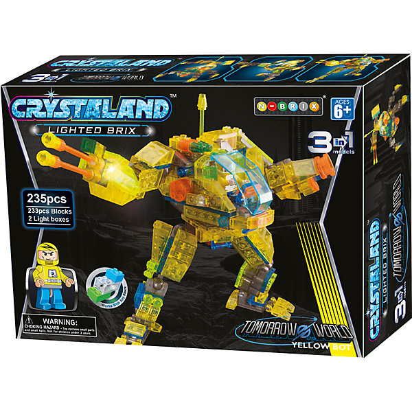 - Конструктор 3 в 1 Ntoys Робот, 235 деталей робот mabot конструктор 5 в 1 1csc 20003411