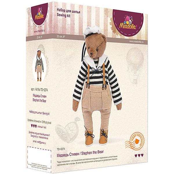 Набор для изготовления игрушки Miadolla Медведь Стивен
