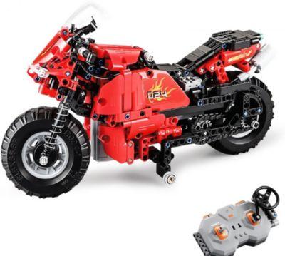 Фото - Cada Радиоуправляемый мотоцикл-конструктор Cada, 484 детали конструктор cada китайский кот удачи интерактивный 525 деталей