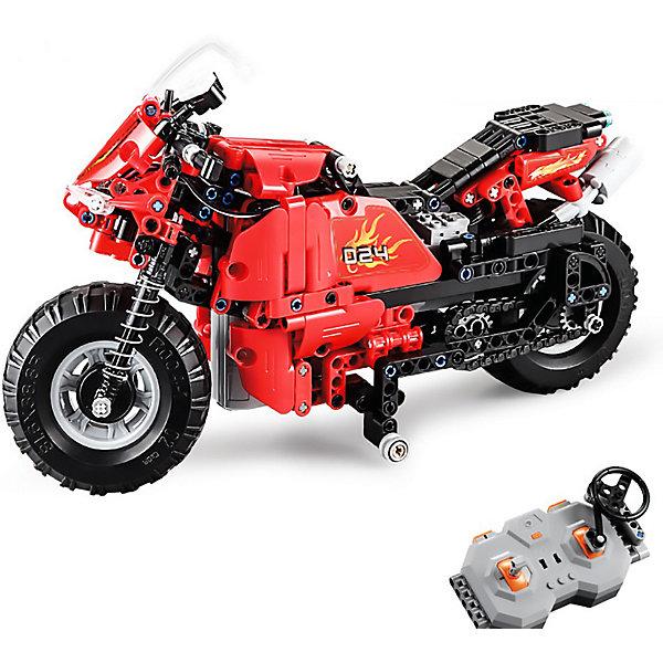 Радиоуправляемый мотоцикл-конструктор Cada, 484 детали