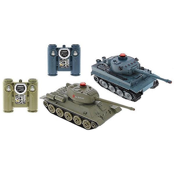 цена на Huan Qi Радиоуправляемый танковый бой HuanQi Tiger vs T34 , 1:32