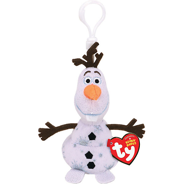 Ty Игрушка-брелок TY Снеговик Олаф, 8,5 см интерактивная игрушка олаф холодное сердце disney