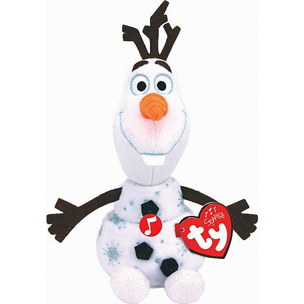 Мягкая игрушка TY Снеговик Олаф, 15 см