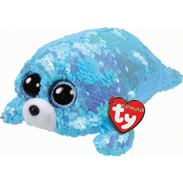 Ty Мягкая игрушка TY Тюлень Вэйв, 15 см игрушка