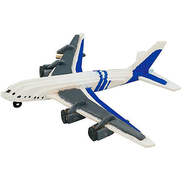 Купить 3D пазл-раскраска Цветной Самолет, ТМ Цветной, Китай, разноцветный, Унисекс