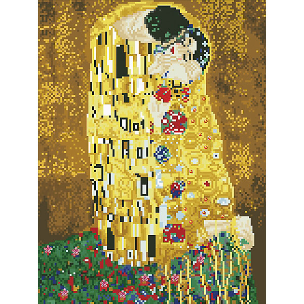 ТМ Цветной Алмазная мозаика Цветной Густав Климт Поцелуй алмазная мозаика тм цветной нежные цветы в белой вазе 40x50 см