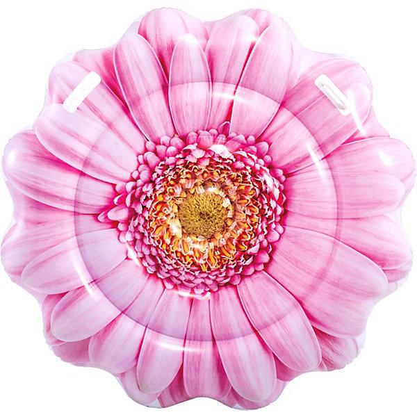 Intex Надувной матрас для плавания Intex Розовый цветок с ручками, 142х142 см матрасы для плавания intex надувной матрас лобстер 213х137 см