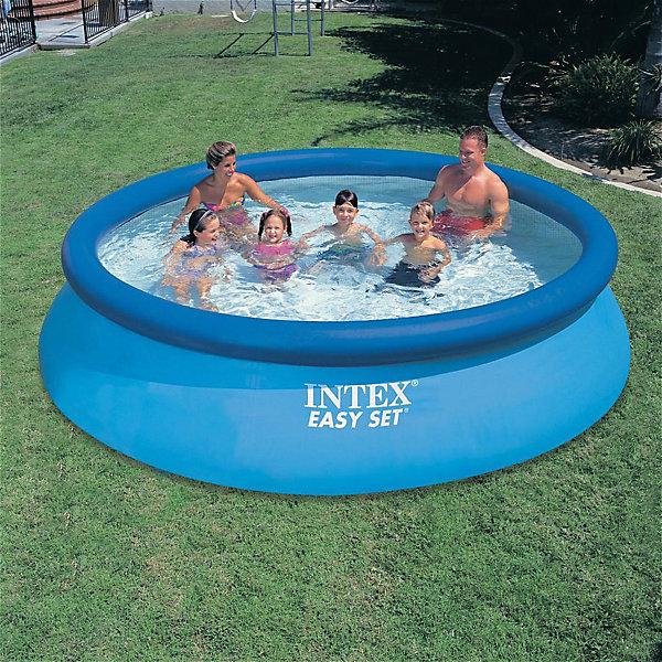 Купить Надувной бассейн Intex, 366х76 см, Китай, голубой, Унисекс