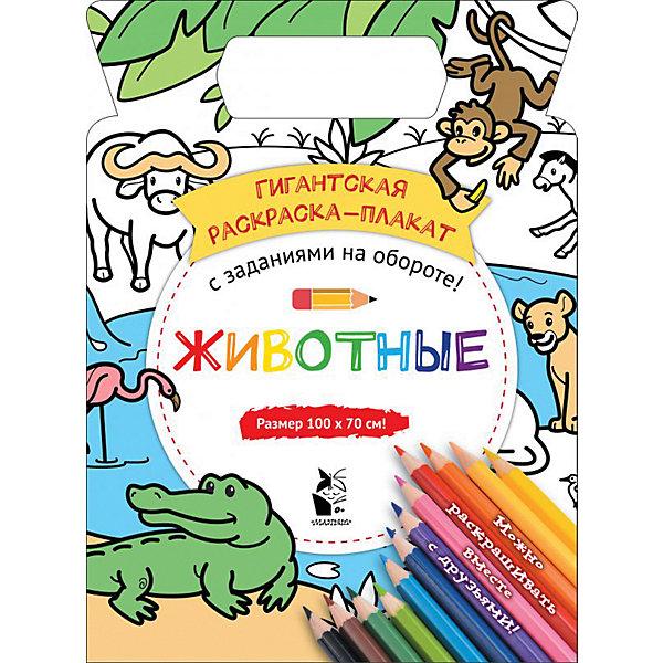 Гигантская раскраска-плакат Животные , Издательство АСТ, Россия, Унисекс  - купить со скидкой
