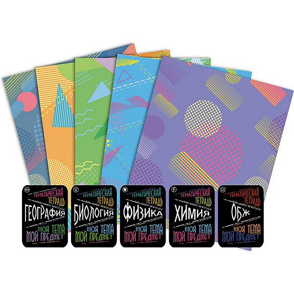 Купить Набор тетерадей Апплика Естественные науки , 5 шт + наклейки, АппликА, Россия, разноцветный, Унисекс