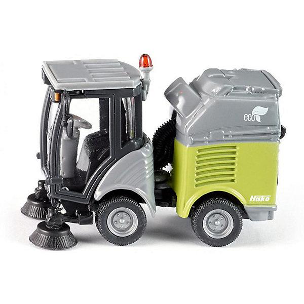 Моющая машина, SIKUМашинки<br>Моющая машина, SIKU (СИКУ)-игрушечная модель, выполненная в масштабе 1:50.<br><br>Машинка имеет металлический корпус, пластмассовую кабину и резиновые колеса, которые вращаются. Задняя часть машины поворачивается, а имеющийся контейнер для мусора можно вынуть. <br><br>Дополнительная информация:<br>-Материал: металл с элементами пластмассы<br>-Размер игрушки: 6,3 x 3,0 x 4,4 см<br>-масштаб 1:50<br><br>Игра с моделями транспортных средств от SIKU (СИКУ) развивает воображение, мышление, память, мелкую моторику рук и координацию движений детей.<br><br>Моющую машину, SIKU (СИКУ) можно купить в нашем магазине.<br>Ширина мм: 104; Глубина мм: 66; Высота мм: 43; Вес г: 84; Возраст от месяцев: 36; Возраст до месяцев: 96; Пол: Мужской; Возраст: Детский; SKU: 1503811;