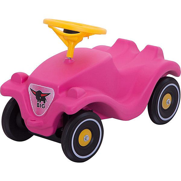 Машинка, Big Bobby Car Classic GirlieКаталки для малышей<br>BIG Машинка Bobby Car Classic Girlie - яркая и симпатичная розовая машинка-каталка для девочек.<br><br>- Каталка очень удобна и проста в управлении: она оборудована рулём, двигается вперёд и назад, вправо и влево без больших усилий со стороны ребёнка. <br>- С сигналом. <br>- Удобное сиденье, устойчивые колёса.<br><br>Дополнительная информация:<br><br>- Размеры: 58*30*38 см.<br>- Материал: пластмасса.<br>- Для детей от года до 3х лет.<br><br>Отличная игрушка-каталка для девочек. Развивает воображение, координацию движений и стимулирует двигательную активность.<br>Ширина мм: 590; Глубина мм: 270; Высота мм: 310; Вес г: 3600; Возраст от месяцев: 12; Возраст до месяцев: 36; Пол: Женский; Возраст: Детский; SKU: 1506342;