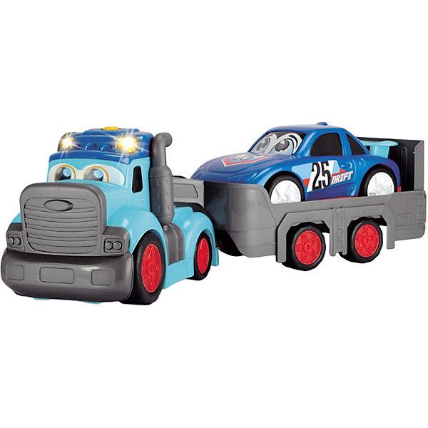 Dickie Toys Машинка Dickie Toys Трейлер Happy с прицепом свет, звук, 60 см