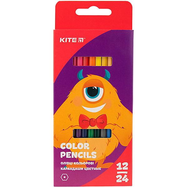 Купить Двухсторонние цветные карандаши Kite Jolliers, 24 цвета, Китай, разноцветный, Унисекс
