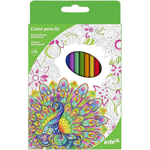"Картинка для Kite Цветные карандаши Kite ""Антистресс"", 18 цветов"