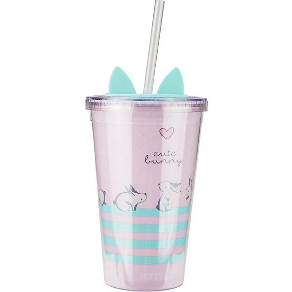 Купить Стакан для воды Kite Bunny, 460 мл, Китай, розовый, Женский