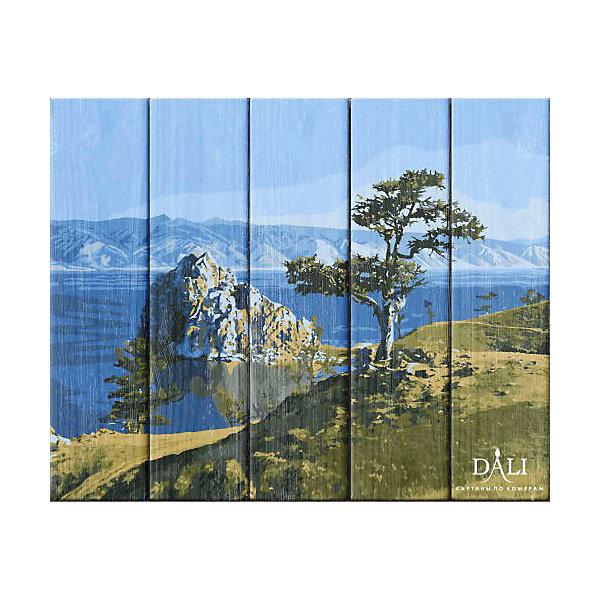 Dali Набор для раскрашивания по номерам по дереву Dali Байкальская жемчужина деревянное панно с зеркалом glambers