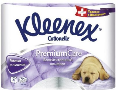 Фото - Kleenex Туалетная бумага Kleenex Premium Care 4 слоя, 4 шт хозяйственные товары officeclean туалетная бумага 2 слоя 4 шт