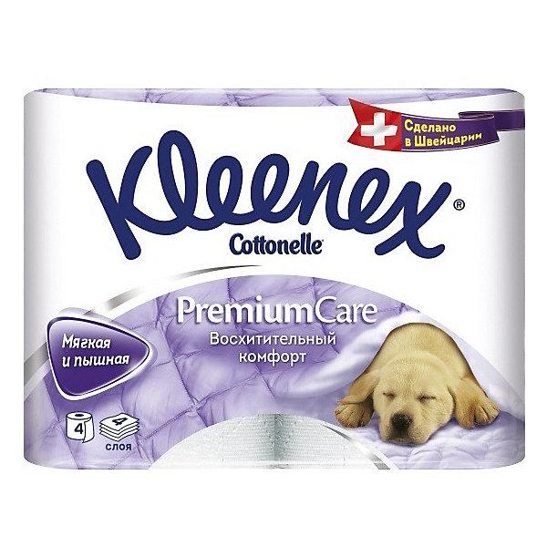 Туалетная бумага Kleenex Premium Care 4 слоя, 4 шт