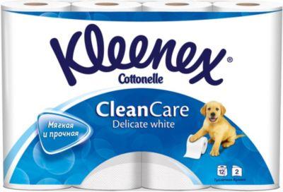 Фото - Kleenex Туалетная бумага Kleenex Delicate White 2 слоя, 12 шт хозяйственные товары officeclean туалетная бумага 2 слоя 4 шт