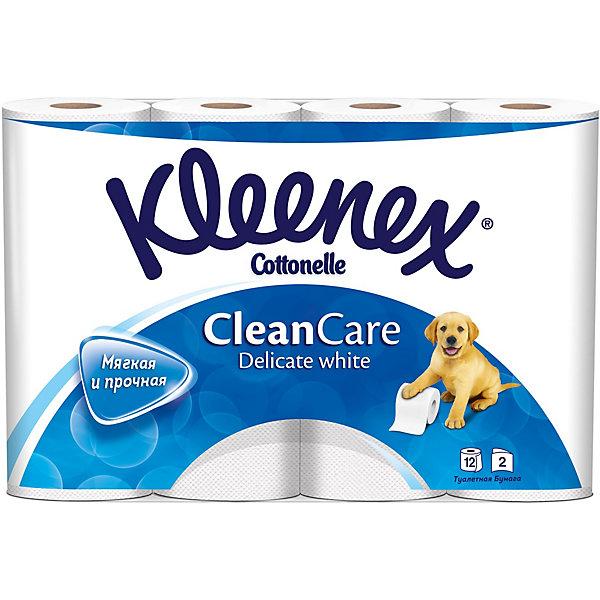 Kleenex Туалетная бумага Kleenex Delicate White 2 слоя, 12 шт sexy white delicate sheer lace lingerie set