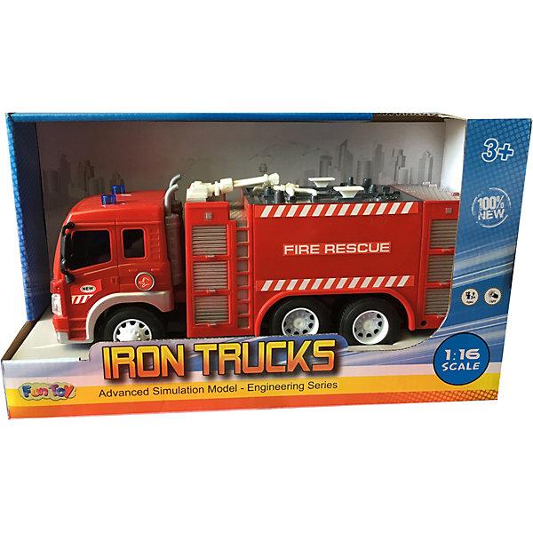 Купить Грузовик Fun Toy Пожарная машина, 1:16, Китай, разноцветный, Унисекс