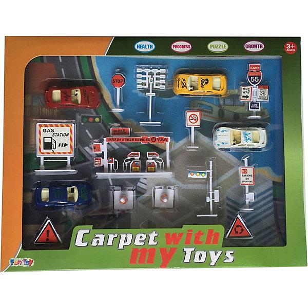Fun Toy Игровой набор Fun Toy Дорожный, с игровым ковриком игровой набор amazing zhus коробка для фокуса с исчезновением 26230