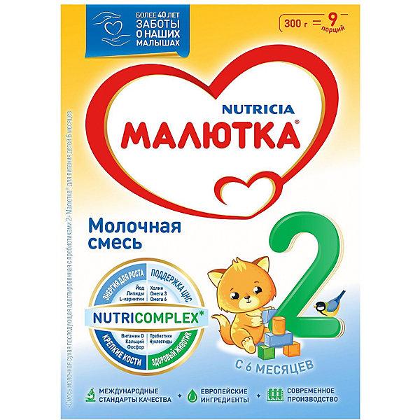 Купить Молочная смесь Малютка 2, с 6 мес, 300 г, Россия, Унисекс