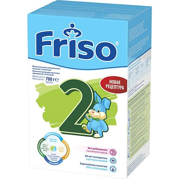 Friso Молочная смесь Frisoлак 2, с 6 мес, 700 г humana эксперт 2 адаптированная сухая молочная смесь от 6 до 12 месяцев 350 г