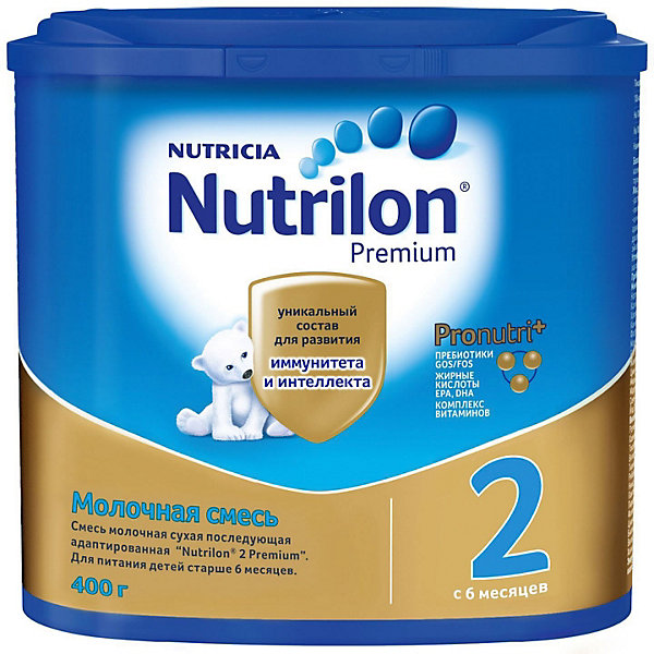Nutrilon Молочная смесь Nutrilon Premium 2, с 6 мес, 400 г nutrilon cow