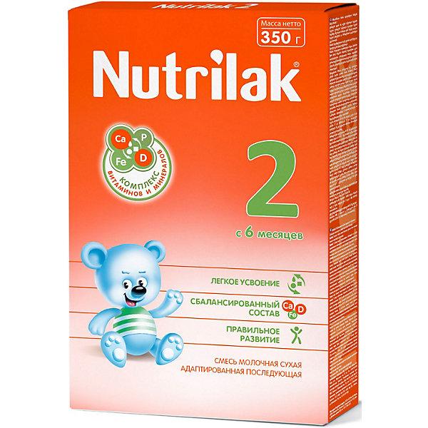 Nutrilak Молочная смесь Nutrilak 2, с 6 мес, 350 г humana эксперт 2 адаптированная сухая молочная смесь от 6 до 12 месяцев 350 г
