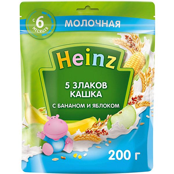 Heinz Каша Heinz молочная 5 злаков банан яблоко Омега 3, с 6 мес