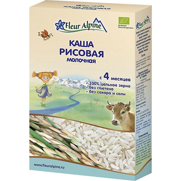 Fleur Alpine Каша Fleur Alpine молочная рисовая, с 4 мес пюре fleur alpine organic яблоко и чернослив с 5 мес 90 г пауч