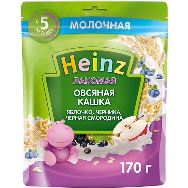 Heinz Каша Heinz Лакомая молочная овсяная яблоко черника чёрная смородина, с 5 мес