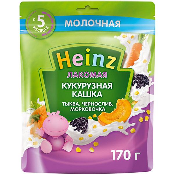 Heinz Каша Heinz Лакомая молочная кукурузная тыква чернослив морковь, с 5 мес