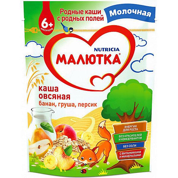 Малютка Каша Малютка молочная овсяная с фруктами, с 6 мес