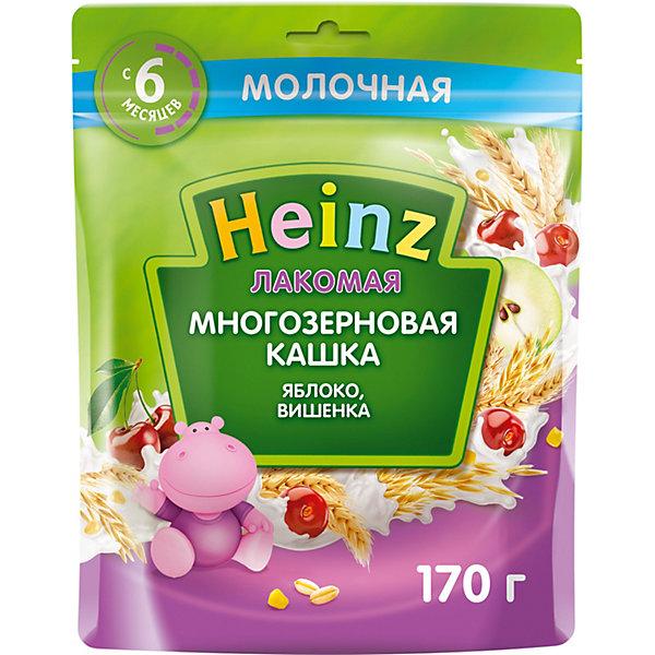 Heinz Каша Heinz Лакомая молочная многозерновая яблоко вишня с 6 мес