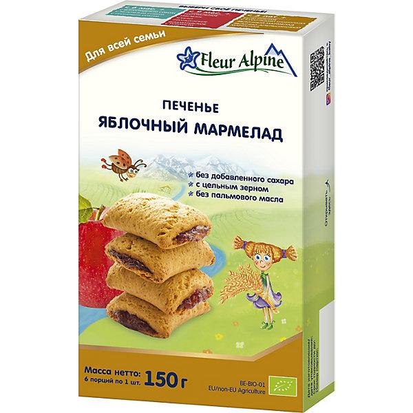 Детское печенье Fleur Alpine яблочный мармелад, с 18 мес